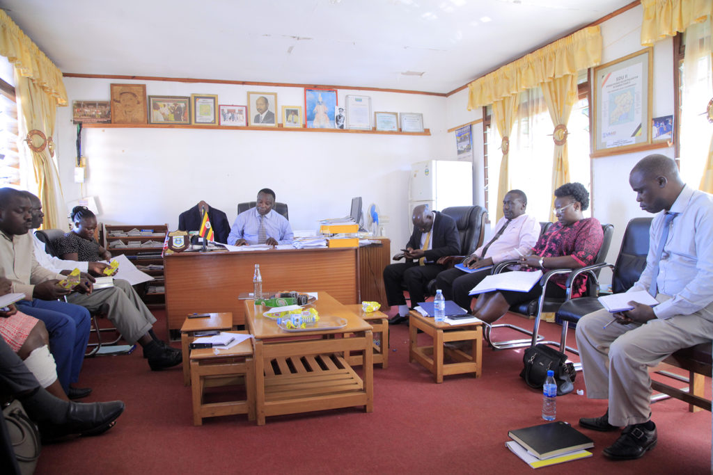 MUBENDE DISTRICT CONDUCTING DISTRICT EXECUTIVE MEETING WHILE THE MINISTRY TEAM VISITED