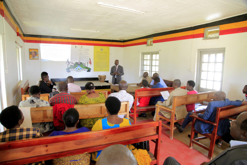 SHEEMA DISTRICT HOLDING STAKEHOLDER MEETING ON SANITATION AND HYGIENE DURING THE MINISTRY TEAM VISITED