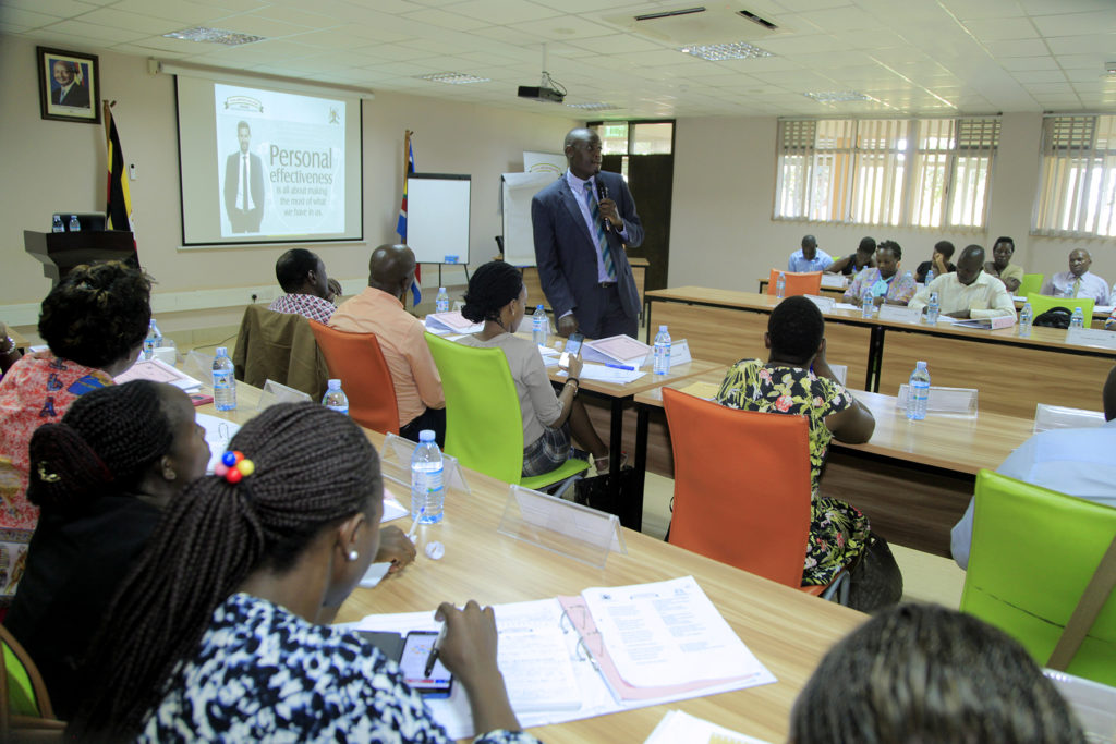 MINISTRY OF DEFENSE AND VETERANS' AFFAIRS CONDUCTS AN INDUCTION TRAINING OF STAFF FROM THE DIRECTORATE OF VETERAN AFFAIRS AT CIVIL SERVICE COLLEGE - JINJA