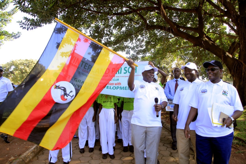 MINISTER OF PUBLIC SERVICE HON. WILSON MURULI MUKASA LAUNCHES THE INTERNATIONAL ANTI-CORRUPTION WEEK AT THWE CONSTITUTIONAL SQUARE -KAMPALA ON 30TH NOVEMBER, 2018