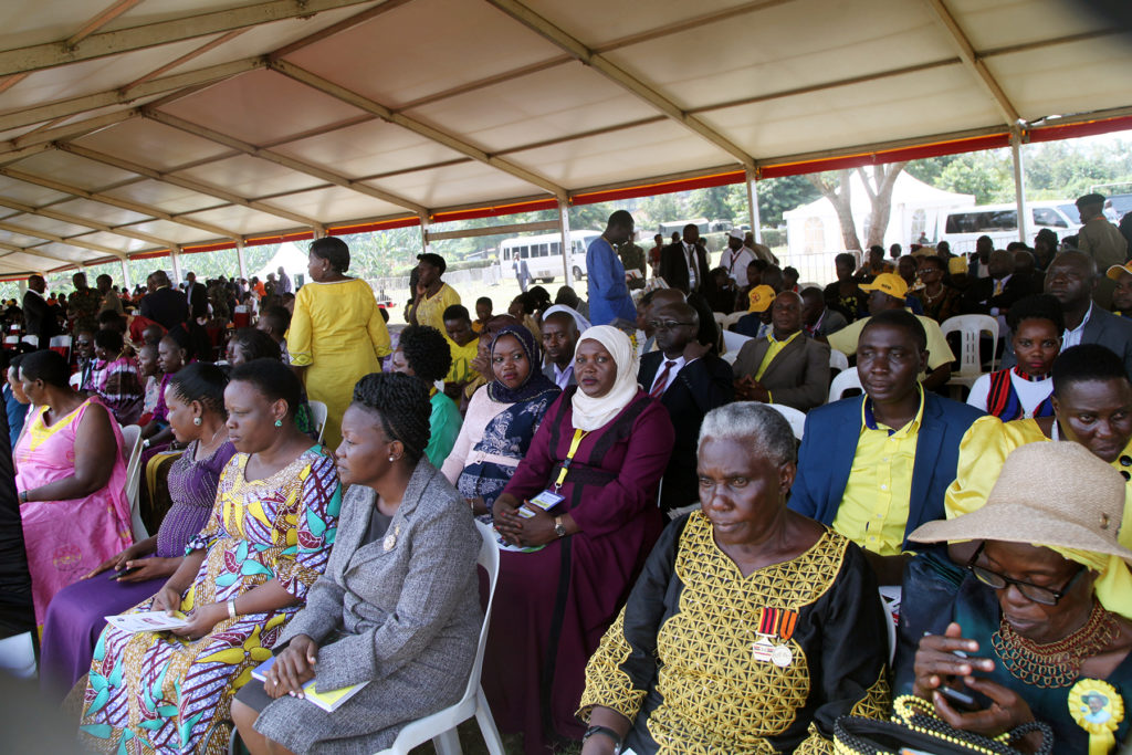 COMMISSIONER HRM- POLICY HAJJAT SHARIFA BUZEKI REPRESENTED THE MINISTER OF PUBLIC SERVICE HON. WILSON MURULI MUKASA DURING THE WOMEN'S DAY CEREBRATION AT BUNYANGABU DISTRICT RWIMI TOWN COUNCIL GROUNDS ON 8TH MARCH 2019
