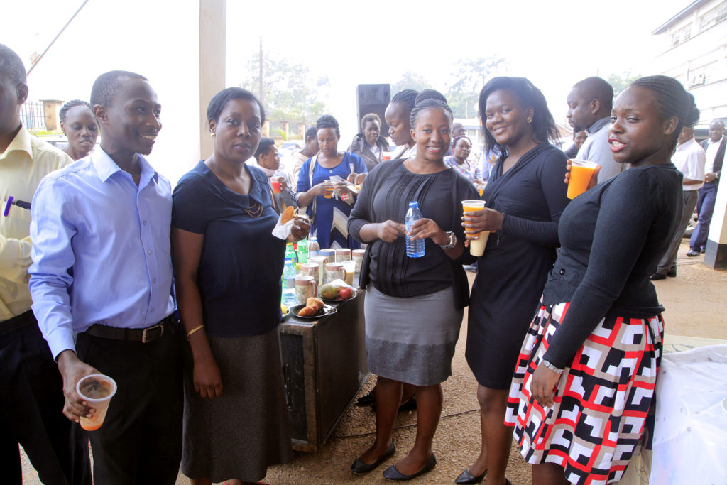 Ministry staff during Tea without Tittles breakfast meeting on 28th march 2019 at Ministry Headquarters -Wandegeya