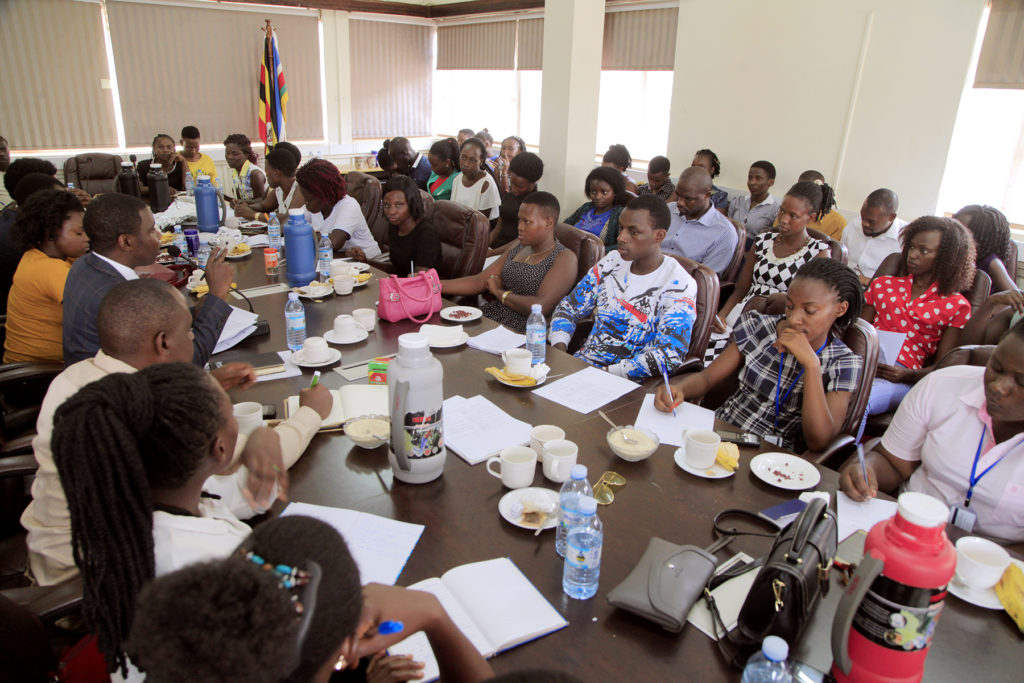 STUDENTS OF BISHOP STUART UNIVERSITY  UNDER THE DEPARTMENT OF RECORDS AND INFORMATION MANAGEMENT PAY VISIT TO MINISTRY TO ACQUAINT THEMSELVES WITH DYNAMICS OF NEW TRENDS IN RECORDS AND INFORMATION MANAGEMENT