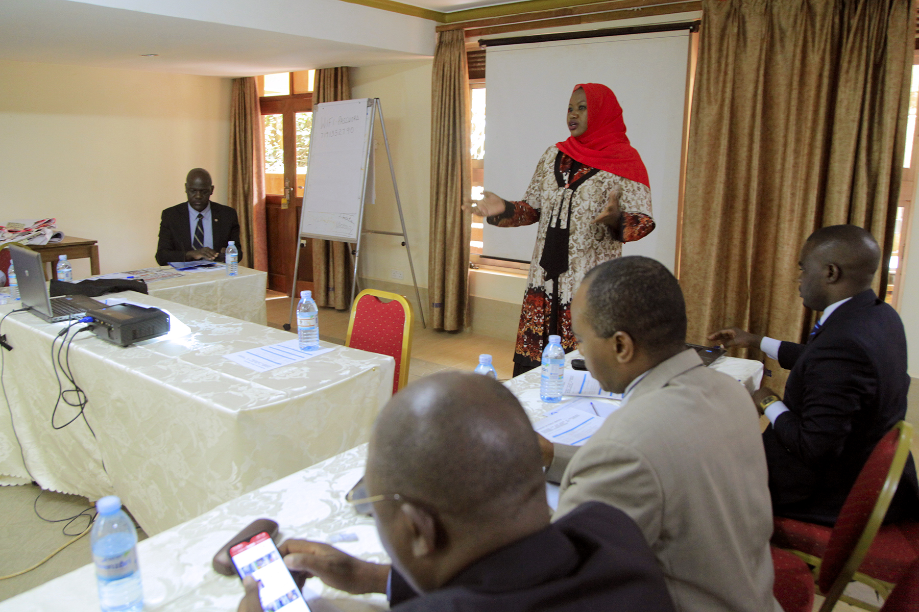 Commissioner - HRD & P Hjjat Sharifa Buzeki facilitates at the Review of Business Process mapping recently