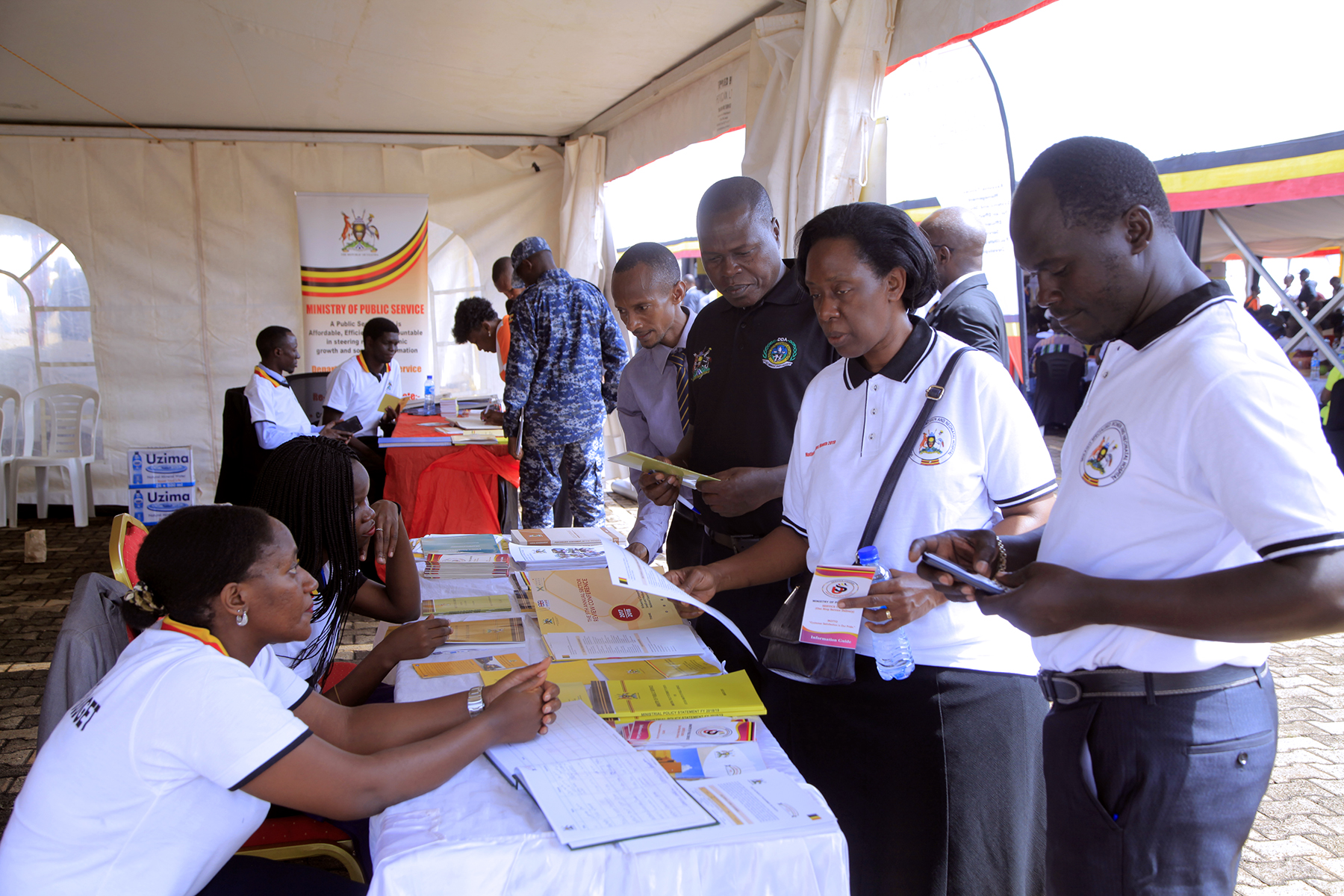 MINISTRY STAFF AT NATIONAL BUDGET MONTH EXHIBITION AT KOLOLO INDEPENDENCE GROUNDS FROM 5TH - 7TH JUNE 2019