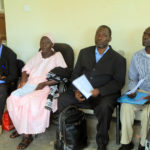Pensioners and Claimants in Dokolo district wait patiently to be validated by the Ministry team at the district Headquarters