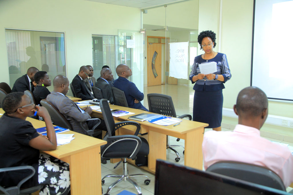 Permanent Secretary Catherine Bitarakwate Musingwiire opened the Training at UBRA recently