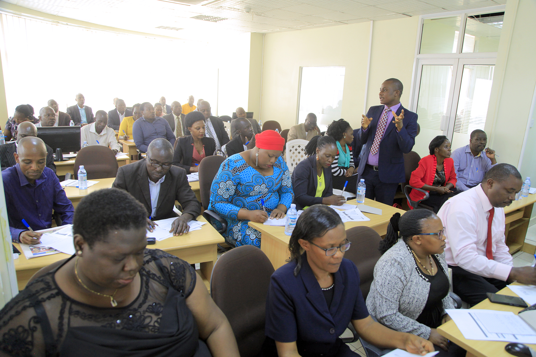 Participants during the training session