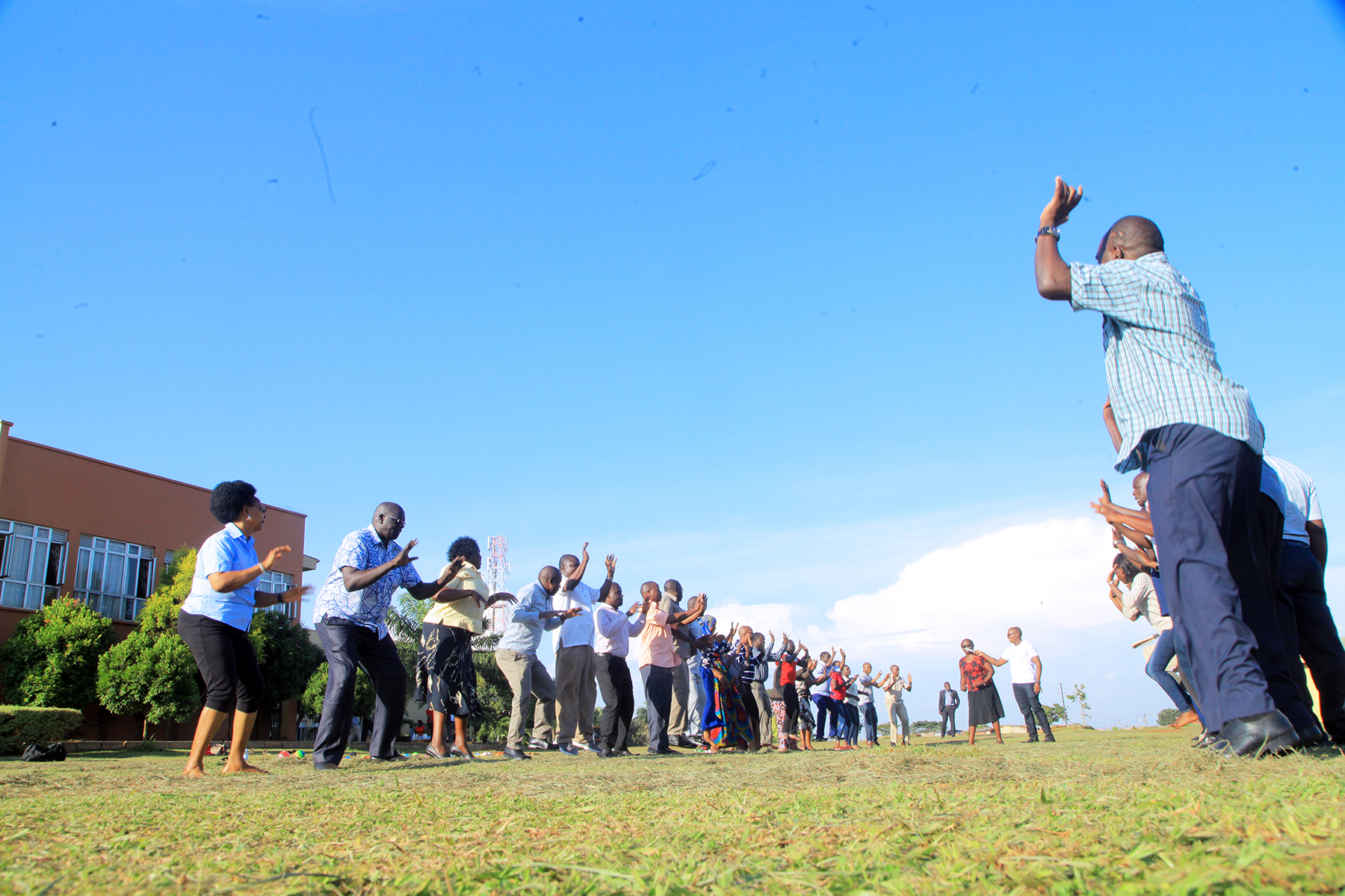 Team building activities during the Senior staff retreat at Civil Servcie College - Jinja