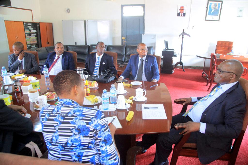 Hon. Minister Muruli Mukasa meets the Botswana delegation during their benchmark visit to Uganda recently