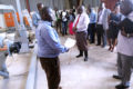 Hon. Minister Wilson Muruli Mukasa being taken around the Research center Projects at Nnamulonge Research cebtre on 24th November , 2019