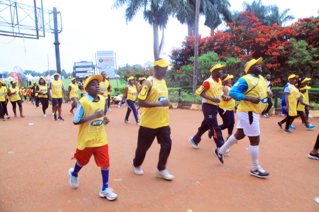 Ministry Team in Action during the 10km run distance on 24th Novemebr , 2019