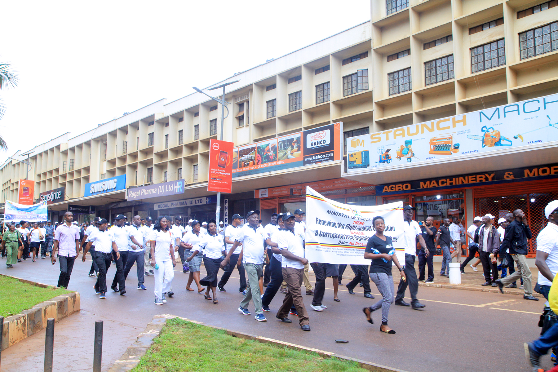 MINISTRY TEAM DURING THE ANTI-CORRUPTION WALK ON 4TH DECEMBER, 2019