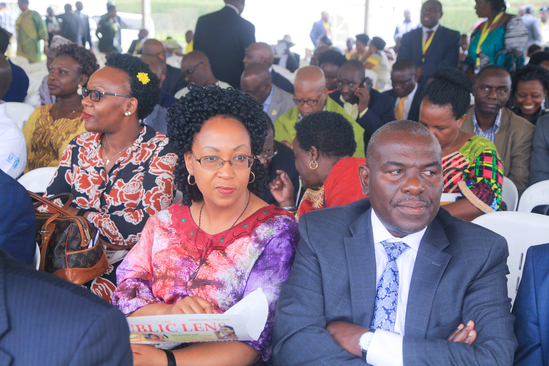 PERMANENT SECRETARY CATHERINE BITARAKWATE MUSINGWIIRE AND COMMISSIONER PLANNING, MONITORING AND EVALUATION EDWARD FREDRICK WALUGEMBE ATTENDS 34TH NRM DAY CELEBRATIONS AT IBANDA DISTRICT