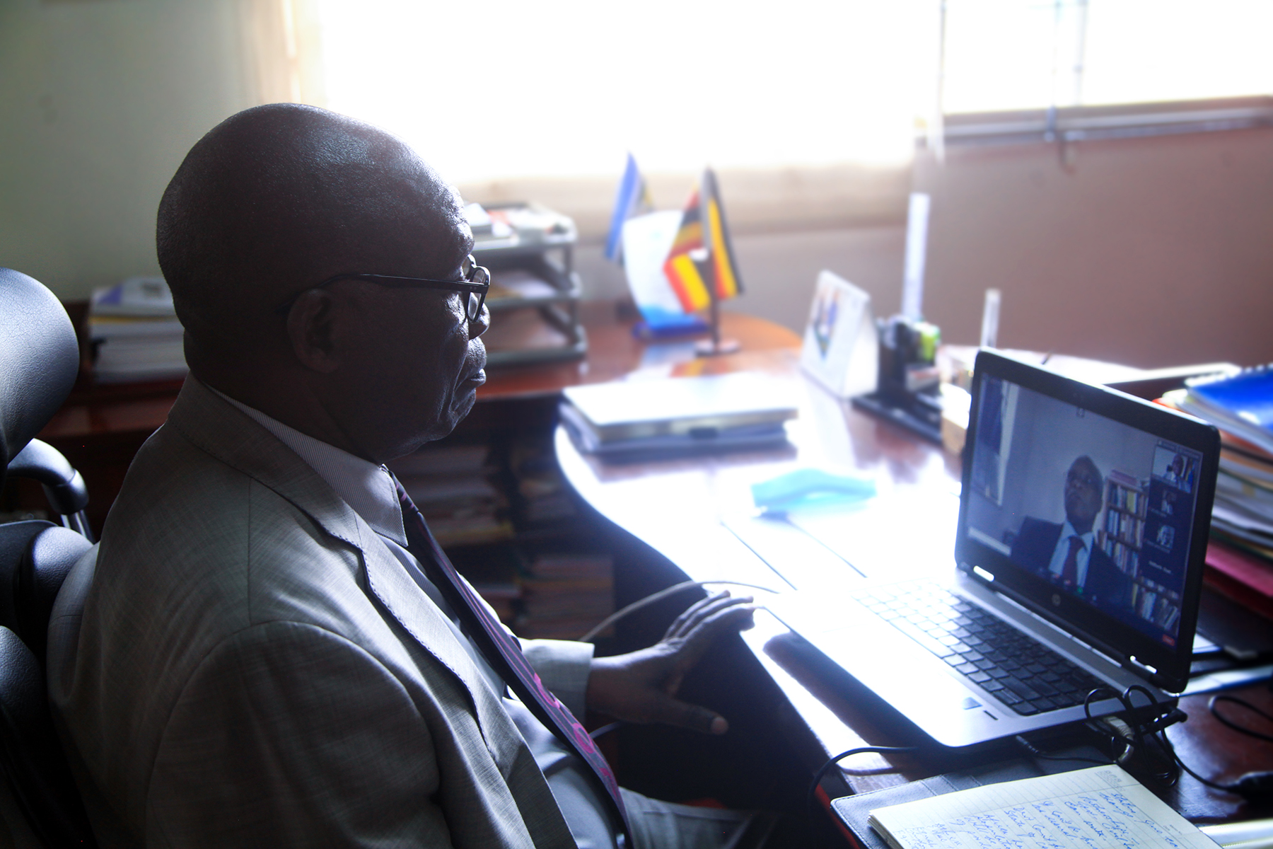 HOn. Minister Wilson Muruli Mukasa participated in the Virtual Global Peace conference coordinated from Azerbajain on the 30th July , 2020.