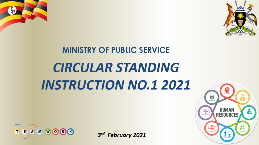 Circular standing instruction No.1 of 2021