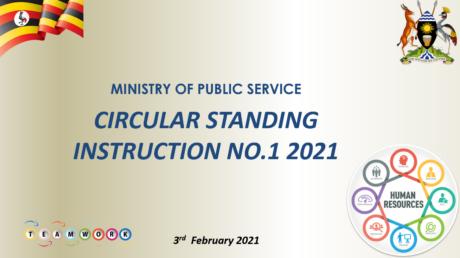 Circular standing instruction No.1 of 2021