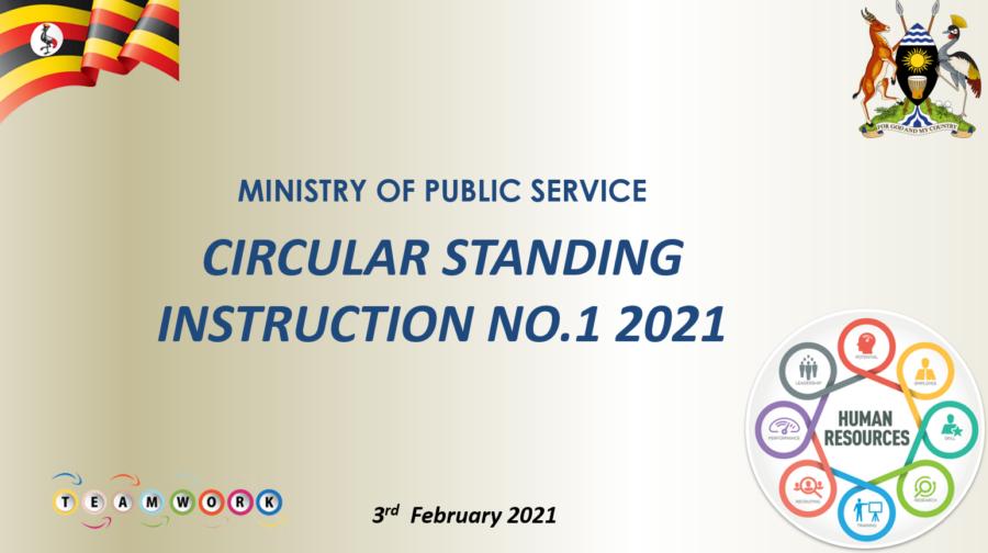 Circular Standing Instruction No. 1 of 2021 - Statutory Instruction 2021 No. 11